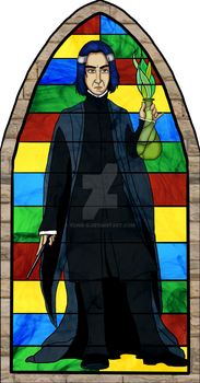 Snape Stained Glass v2 by Yunie-B