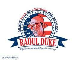 Raoul Duke For President by NikolaDrca