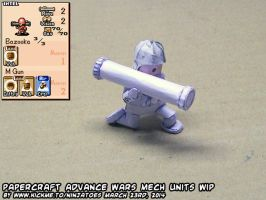 Papercraft Advance Wars Mech unit WIP1b by ninjatoespapercraft