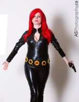 Black Widow Captain America 2 pose by MuneCandC