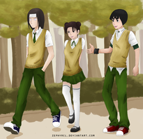Team Gai - AU High School by zephyrcl