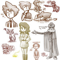 Layton Noodle Doodles by theanimemaster2