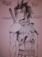 Zack Fair Drawing by Robsa990