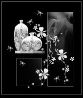 Silver Orchids by rockgem
