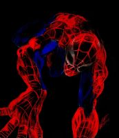 Spiderman color by CHADBOVEY