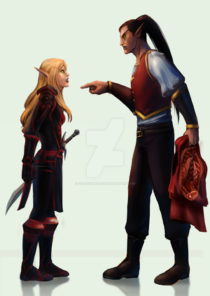 Commission : Warcraft's Blood Elves by ForeverMedhok