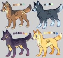 Canine adopts for sale by KaceyMeg