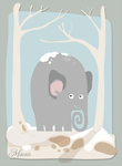winter elephant by macen