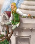 LotR/S: view over rivendell by Houkakyou