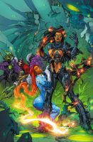 Red Hood and the Outlaws 13 cover by BlondTheColorist