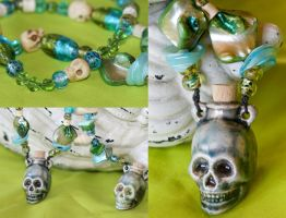 Swamp Witch Skull Necklace by Acid-PopTart