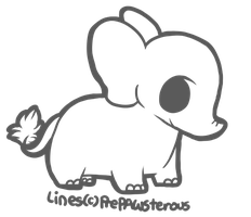 :Free Use Elephant(?) Lineart:: by PrePAWSterous