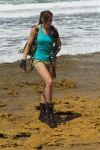Lara Croft Tomb Raider: Beach 5 by JennCroft