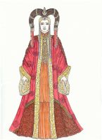 Amidala at the Senate by Dvythmsky