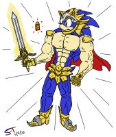 Sonic Excalibur HOT sprayed by Sonic-Toad