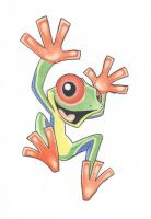 Colored Frog by vitordramon