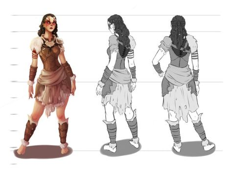 Character Design: Druid by FlyingCatInAhoodie