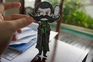 Loki Paper Child - Mustache Edition by SoonToBeMangaka