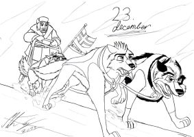 Kitara the wolfhound - Dec. 23 by MortenEng21