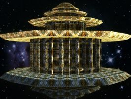 Lysergica Floating Temples : Cosmic Spin Sanctuary by PhotoComix2