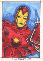 Iron Man sketch card by billmeiggs