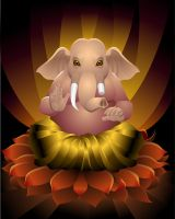 lord ganesha by scorpy-roy