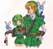 OoT:5 Days of Valentines-Saria by tomo-chi