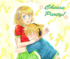 Rin and Len - cheese party by hyuugalanna