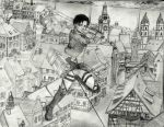 Levi Ackerman in battle by wholivesinfantasy