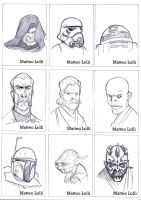 star wars cards by MatteoLolli