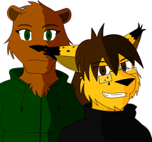 Nuff and Zai by supervanman64