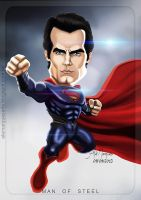 SuperMan - Henry Cavill, Caricature by alemarques21