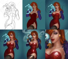 Jessica Rabbit Steps by JessiBeans