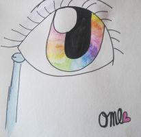 Rainbow eye by OliveXDLOL-NYAN