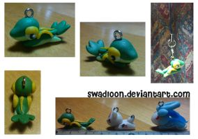 Crawling snivy Charm by Swadloon