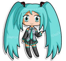 [C] Vocaloid Mini Chibi: Miku by izka197