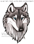 Blue Eyed Grey Wolf Bust Commission by WildSpiritWolf