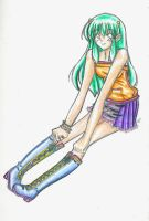 lum - color pencil unfinished by poofy-wings