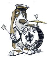 BEAGLE BRASS BAND by sketchoo