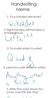 Handwriting Meme- Completed! by WickedOreo