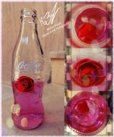 Girlish Pink Cola with a Flower by zooz898
