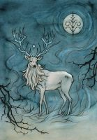white stag by liga-marta