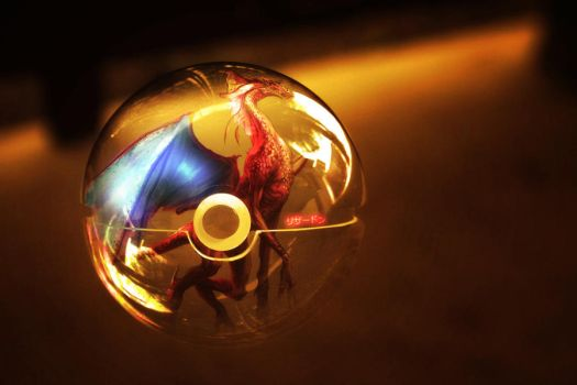 The Pokeball of the Real Charizard by wazzy88