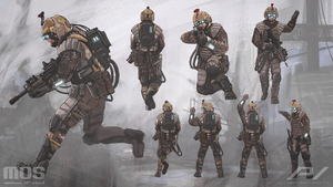 Minions of Steel - Infantry unit concept by JoanPiqueLlorens