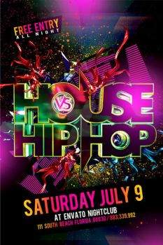 House Vs HipHop Party Flyer by Industrykidz