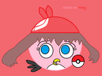Stella as May in Pokemon by Rosabird5673