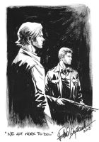 Winchester bro sketch by elena-casagrande