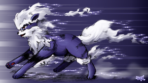 arcanine RUN by Effier-sxy