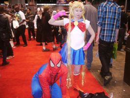 C2E2 2012 Saturday - Spidey and Sailor Moon by soryukey