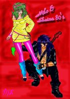 Milo + Shaina 80's coloured by Nizhan